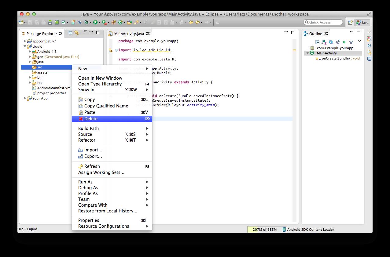 Remove src folder from build path